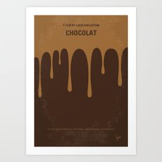 No567 My Chocolat minimal movie poster Art Print