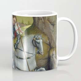 Saint George and the Dragon Oil Painting by Rogier van der Weyden Coffee Mug