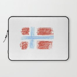 flag of norway 9 – Chalk version  snow,scandinavia,scandinavian,norwegian,oslo Laptop Sleeve