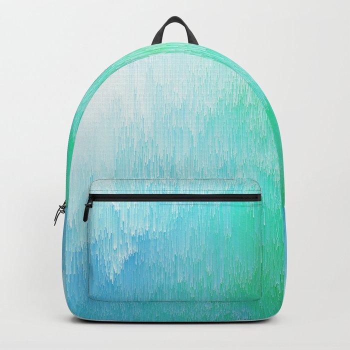 Rainforest - Blue & Green Glitch Backpack