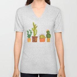Hedgehog and Cactus (incognito) Unisex V-Neck