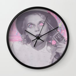 The Girl With The Gun (Collaboration with Grace Teaney) Wall Clock