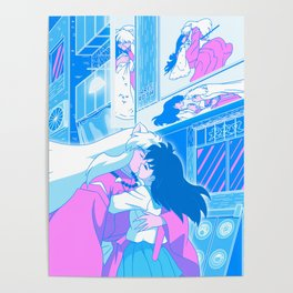 Aesthetic Anime Couple Dreamscape (Inuyasha x Kagome) Poster