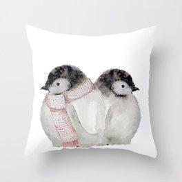 Baby Penguins Throw Pillow