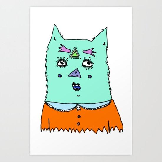 gato magico#2 Art Print