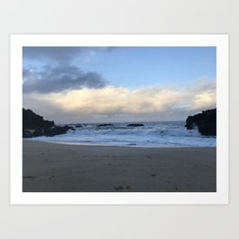 A Cloudy Morning in Waimea Art Print