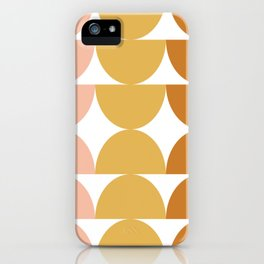 Simple Shapes in Earth Tones iPhone Case