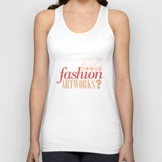 Boobs on fashion. A simple question. Unisex Tank Top