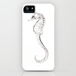 Seahorse - Pen & Ink Stippling iPhone Case