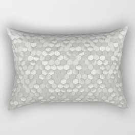 White hexagons Rectangular Pillow