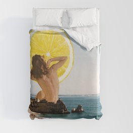 what's on my mind Duvet Cover