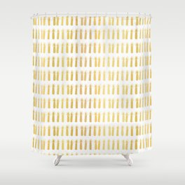 Luxe Gold Light a Candle Pattern, Hand Drawn Seamless Vector Illustration Shower Curtain
