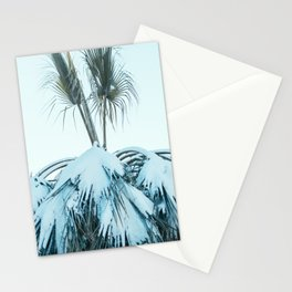 Palm and Snow Stationery Cards