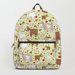Goat Pattern Backpack