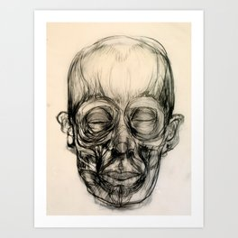"""Ecorche Face I"" Art Print"