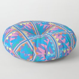 Mountain Puzzles Pastel Floor Pillow
