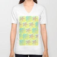 starfish V-neck T-shirts featuring Starfish by Gaspar Avila