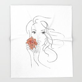 Beauty Blossom Throw Blanket