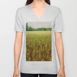 Textured Crop Unisex V-Neck