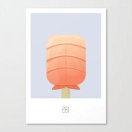 Ebi Flavored Creamsicle Canvas Print