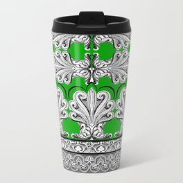 Holiday Frett Panel Print Metal Travel Mug