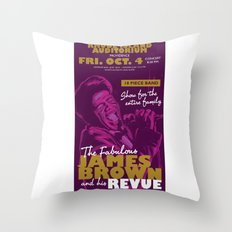 James Brown Throw Pillow