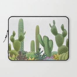 Milagritos Cacti on white background. Laptop Sleeve