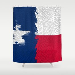 Extruded flag of Texas Shower Curtain