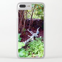 Painted Log in Garden Clear iPhone Case