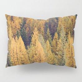 Autumn Tamarack Pine Trees Pillow Sham