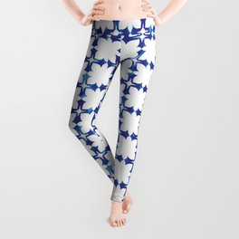 blue morrocan dream no1 Leggings