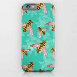 Hoverfly vector illustration iPhone Case