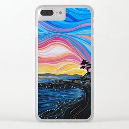 West Coast Sunrise Clear iPhone Case
