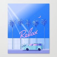 Relax (Blue) Canvas Print