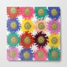 Nanas' Flowers Metal Print