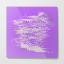 White foggy clouds hovering over the purple background Metal Print
