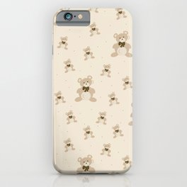 Teddy Bears - Beige iPhone Case