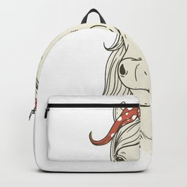 Horse portrait with loop in the mane Backpack