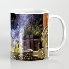 Incense Sticks Burning at the Ngoc Son Temple in Hanoi, Vietnam Coffee Mug