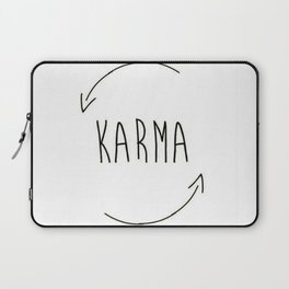 karma do good things what you do comes back to you inspired new 2018 wisdom simple word concept idea Laptop Sleeve