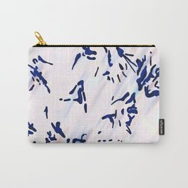 Blue Splatter Painting Pattern Carry-All Pouch