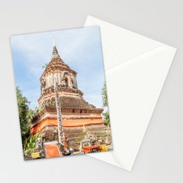 The Chedi of Wat Lok Molee, Chiang Mai, Thailand Stationery Cards