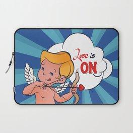 Cupid Amur turn Love is On  Pop-Art Laptop Sleeve