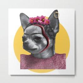 FRIDA CHIK-HUAHUA Metal Print