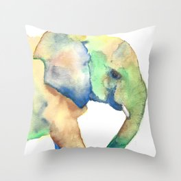 "Colorful Elephant ""I'll Always Remember You"" Throw Pillow"