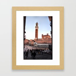 Piazza Del Campo, a Darker Tuscany. Framed Art Print