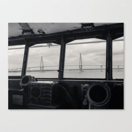Looking at the Ravenel Bridge from the USS Yorktown Canvas Print