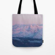 Perfect sunrise in South Tyrol Tote Bag