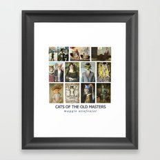 Cats of the Old Masters Framed Art Print