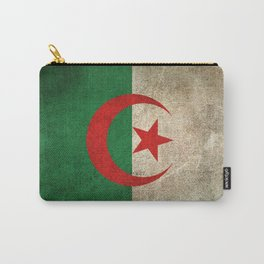 Old and Worn Distressed Vintage Flag of Algeria Carry-All Pouch